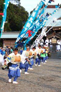 門川神社臼太鼓踊り